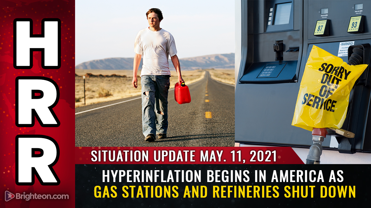 Image: Hyperinflation begins in America as gas stations and refineries SHUT DOWN